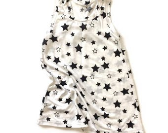 Baby Dress, Toddler Dress, Summer Dress, Racerback Dress, Girls Dress - Stars