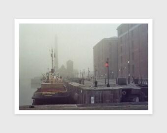 Foggy Albert Dock, 2015 --- Signed/Free Shipping