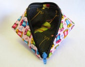 Coin Purse - Zipper Pouch - Mini Storage Pouch - Fabric Pouch - Cosmetic Bag - Wonder Clip Bag - Sewing Pouch - Gift Bag - Sweet Pea Pod
