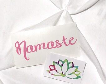 Yoga decal. Namaste decal. Yeti decal. Yoga monogram. Lotus flower. Namaste.
