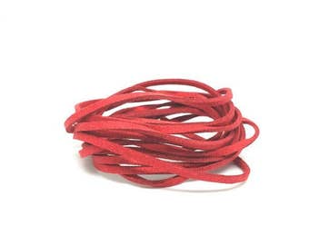 10 m cord suede 3mm Red