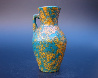 Scheurich Fat lava vase vintage German ceramics Modernist handled vase