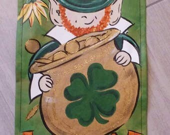 St Patrick's Day garden flag.