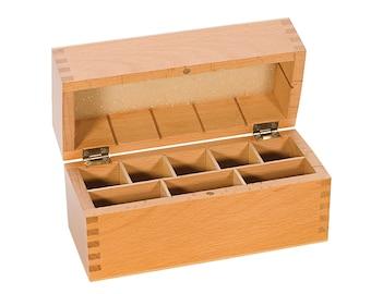 """7-1/2"""" x 3-1/4"""" x 4"""" Gold Silver Platinum Testing Acid Bottle Needle Stone Hardwood Storage Box - TES-810.10"""