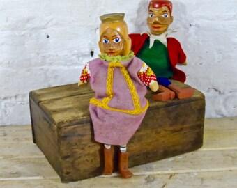 German folkart hand puppets
