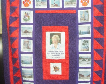 Memory quilt | Etsy : memorial quilt ideas - Adamdwight.com