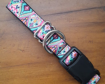 Tribal Dog Collar,  Tribal Print Dog Collar