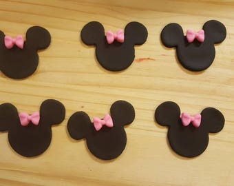 Minnie Cupcake Toppers.