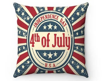 4th of July Independence Day Throw Pillow