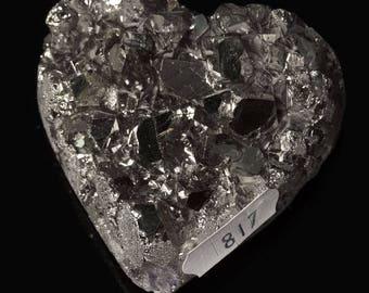 Titanium Aura Quartz Crystal Heart 3.7 oz. A-817