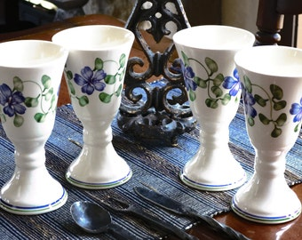 Monastery Rye Hand Painted Goblets - Set of Four