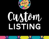 Custom Listing for lizajane737