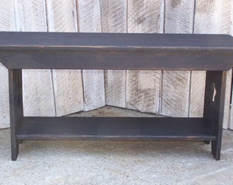 Country Primitive Decorative Bench
