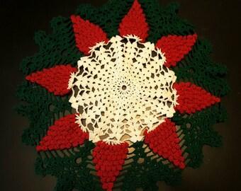 Christmas doily | Etsy
