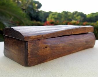 Wooden Box, Rustic Wooden Box, Driftwood Box, Storage Box, Jewelry Box, Gift for him, Wedding Card Box, Recipe Box, Reclaimed Wood Box