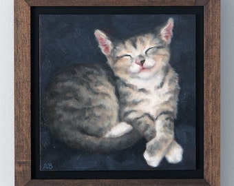 Kitten / Original Oil Painting / Sarah Becktel
