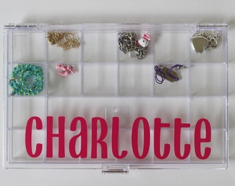 Large Personalized Jewelry Case