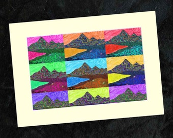 Mournes Collage Mounted Print