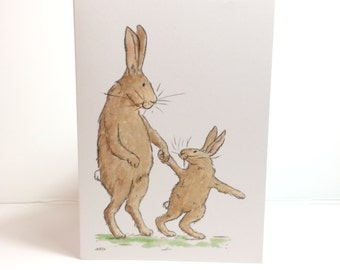 Bunny Rabbits Greetings Card