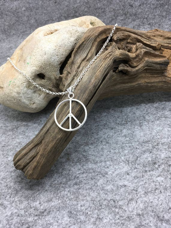 Handcrafted Sterling Silver Peace Symbol.