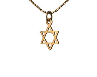 Star Of David 14K Gold Filled Pendant Necklace Dainty Simple Jewellery Magen David Necklace Handmade Free UK delivery GP17