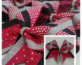X Out Bling Cheer Bow
