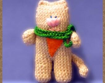 Funny cat crochet