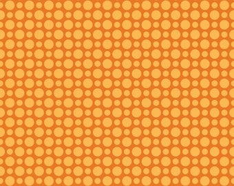 School Days Yellow Dots on Orange by Riley Blake - C4825 YELLOW