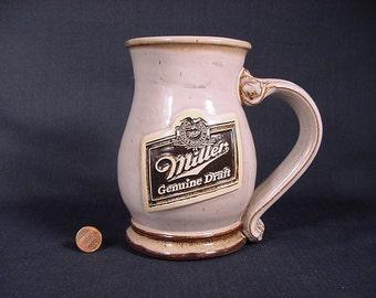Vintage Old Collectible * Beer Stein Mug * Miller Genuine Draft *