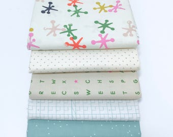 Fat Quarter Mixed Bundle by Cotton and Steel- 5 Fabrics