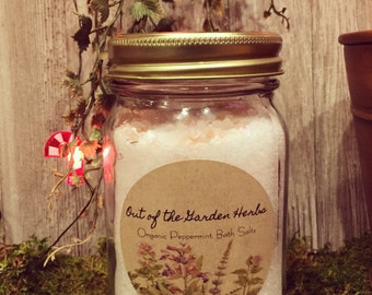 Organic Peppermint Bath Salts