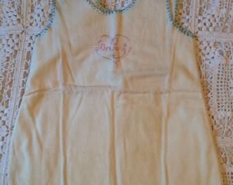 Vintage Flannel Baby Dress