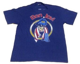 Rare Vintage Bon Jovi World Tour Concert We Came We Saw We Kicked Your Ass 1987 T-Shirt Jon Bon Jovi David Bryan Tico Torres Hugh McDonald