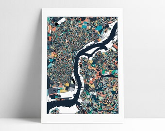 Philadelphia Map, Philadelphia Print, Philly City Map, Philly Map Poster, Philadelphia Map Print, Philadelphia, Pennsylvania, Wall Art Decor