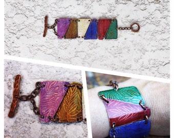 Boho Chic Copper Bracelet, Etched Copper Bracelet, Women's Bracelet, Girls' Bracelet