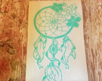 Dream Catcher Decal | Laptop Decal | Large Car Decal | Vinyl Decal | Great gift | Girly Decal | Bohemian Dream Catcher Decal |