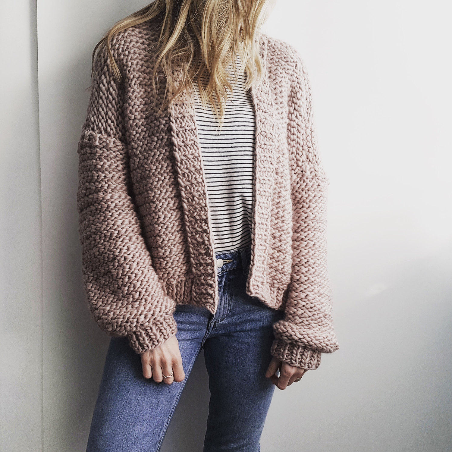 DIY Knitting Kit. Oversized Cardigan Sweater Jumper cardigan.