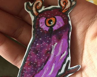 "STICKER (One of a kind) ""Hoot"""