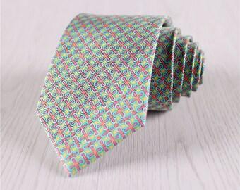 green silk tie.designer ties.printed ties.vintage necktie.high-end necktie for groomsmen.wedding party ties.gift necktie accessories+nt.143s