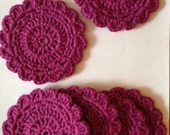 Crochet coasters/floral crochet coasters/ Christmas gift/ gift idea/ house gift/ hostess gift
