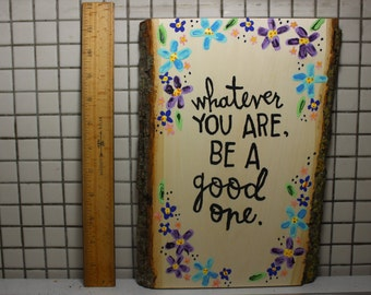 Rectangle Wooden Plaque (with Chalkboard back)
