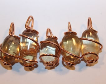 citrine & recycled copper
