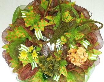 Butterfly wreath, Moss wreath, Fall Wreath, Fall Butterfly Wreath, Fall Hydrangea wreath, Hydrangea wreath, Fall Door Decor
