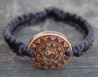 Yin Yang Bracelet,Tai Chi String Bracelet,Macrame,Hemp Bracelet,Good Luck,Pray,Men,Woman,Yoga Bracelet,Protection,Meditation,Protection