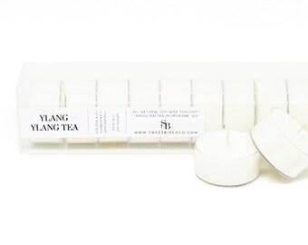 Ylang Ylang Tealight Candles - Ylang Ylang Soy Tealights - Floral Candles - Aromatherapy Tea Lights - Floral Tea Light Candles