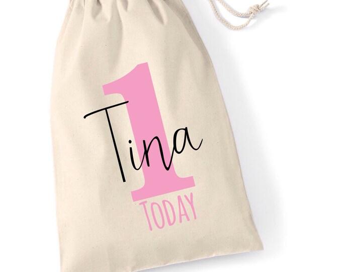 Personalised gift bag   Drawstring bag   Pouches   Keepsake bag   Children's bag   Birthday gift bags   Birthday sack   Tote bag.