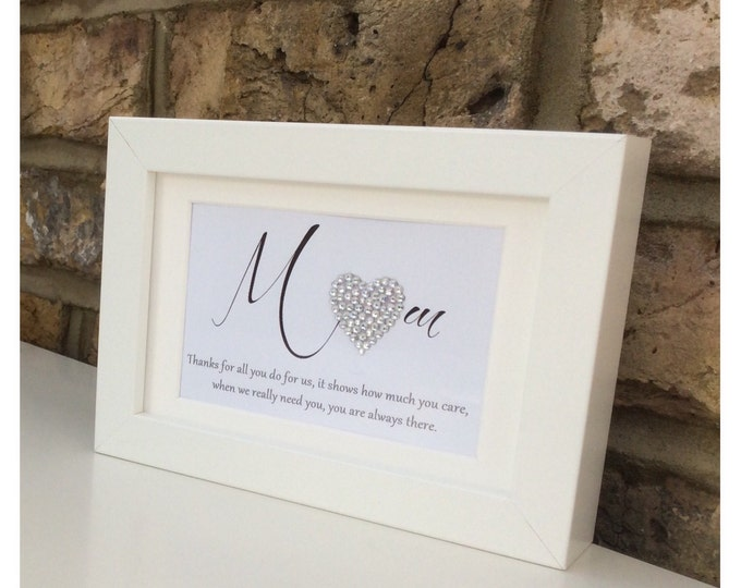 Personalised crystal heart print | Thank you quote |  Friend gift | Thank you gift | Mothers day | Personalised prints.