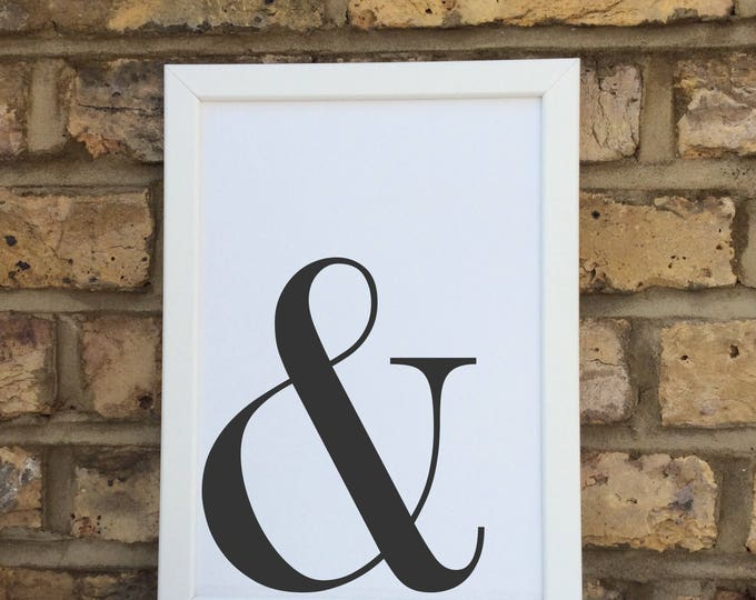 Ampersand print | Wall prints | Wall decor | Home decor | Print only | Typography