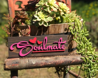 Soulmate/Love/Gift/Lasercut/wood decor