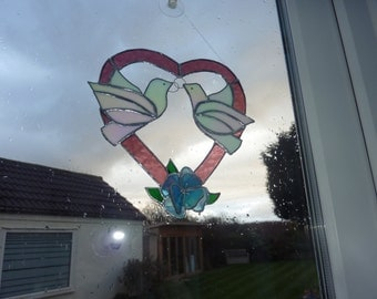 Heart made from stained glass